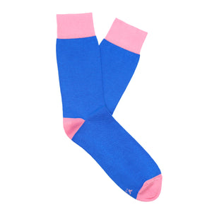Made in Great Britain Men's Socks - Beautiful Twin Pack Blue