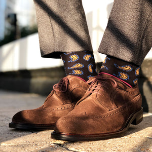 Made in Great Britain Men's Socks - Beautiful Twin Pack Black Gold