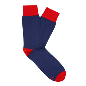 Made in Great Britain Men's Socks - Beautiful Twin Pack Navy