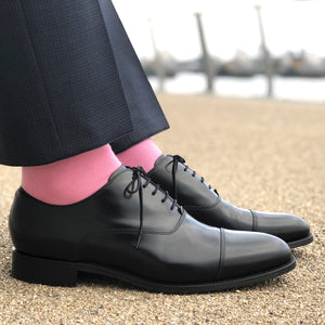 Made in Great Britain Men's Socks - Beautiful Twin Pack Blue Pink