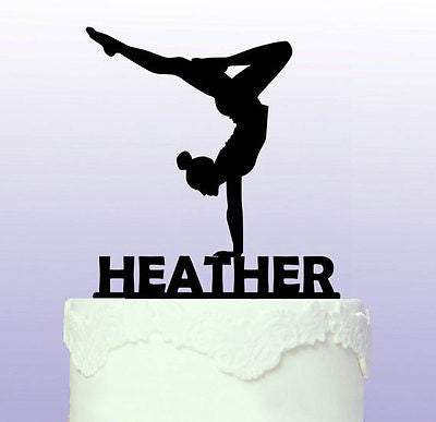 9987a9e1dde8 Personalised Gymnastics Cake Topper Gym Gymnast | Personalised Cake ...