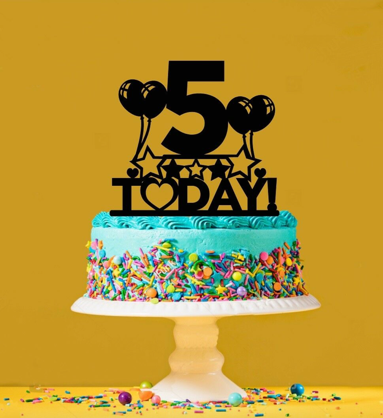 Fabulous 5Th Birthday Cake Topper 5 Years Old Fifth Personalised Cake Funny Birthday Cards Online Aboleapandamsfinfo