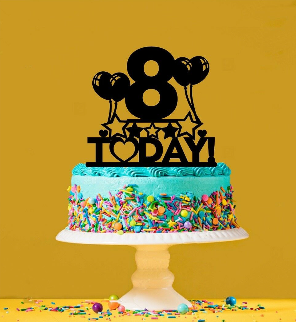 Enjoyable 8Th Birthday Cake Topper 8 Years Old Eighth Personalised Funny Birthday Cards Online Eattedamsfinfo