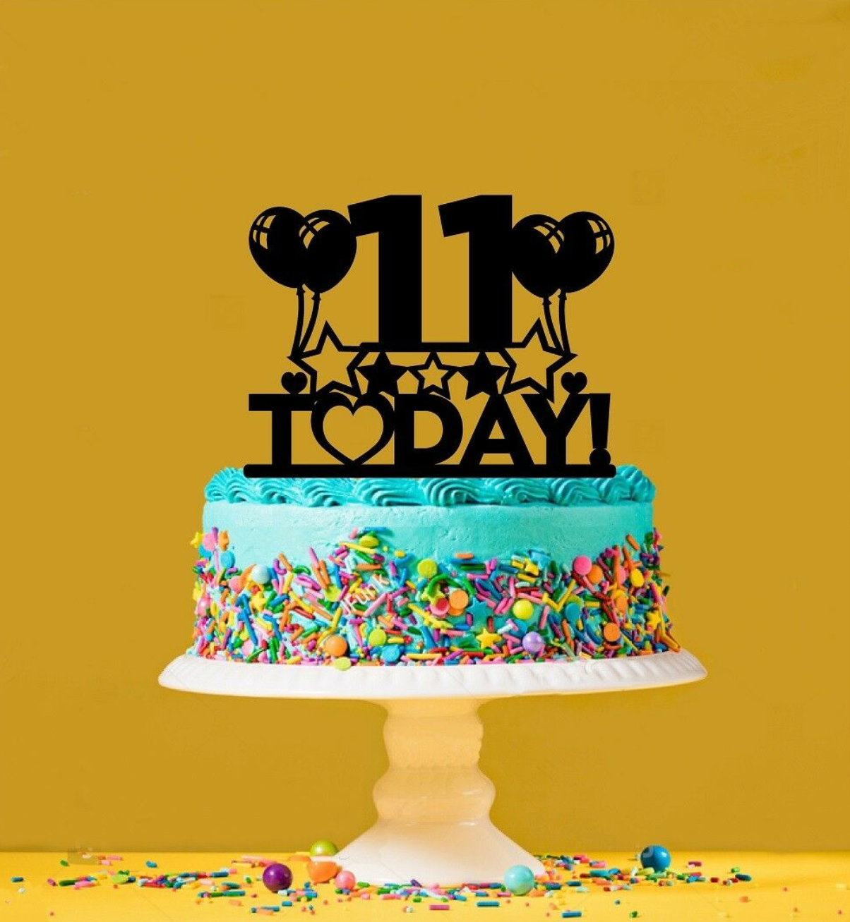 Fabulous 11Th Birthday Cake Topper 11 Years Old Eleventh Personalised Funny Birthday Cards Online Sheoxdamsfinfo
