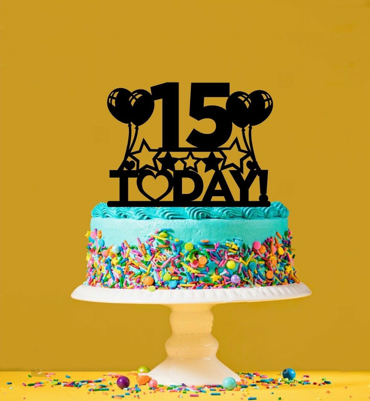 Prime 15Th Birthday Cake Topper 15 Years Old Fifteenth Funny Birthday Cards Online Inifofree Goldxyz