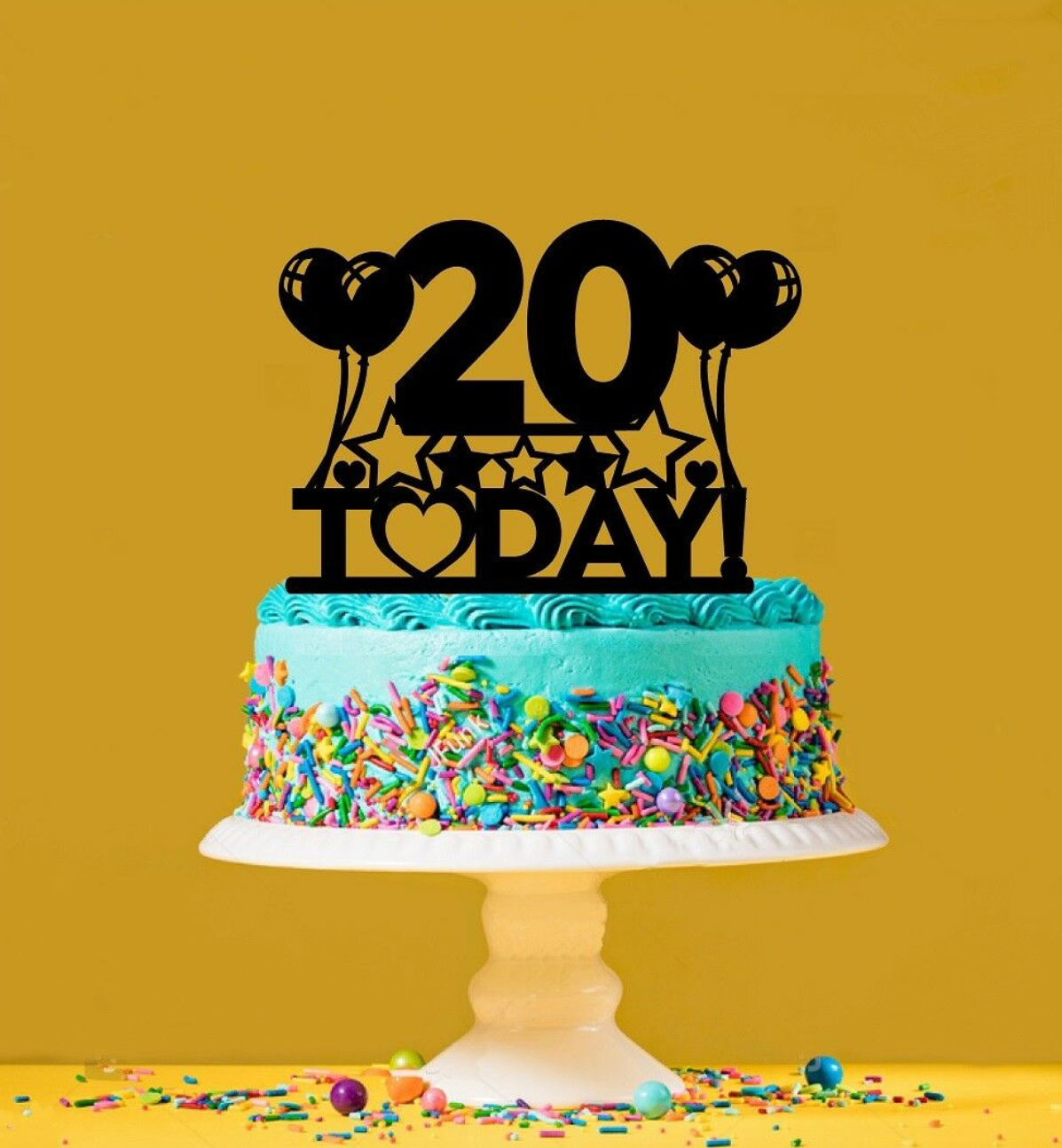 Remarkable 20Th Birthday Cake Topper 20 Years Old Twentieth Personalised Birthday Cards Veneteletsinfo