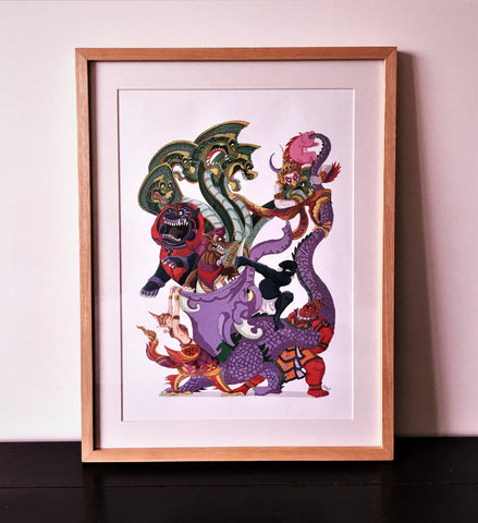 Art Print - THE FANTASTIC CREATURES OF ANGKOR
