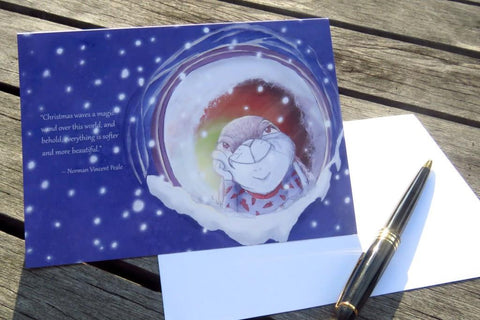 Christmas Card - Christmas waves a magic wand