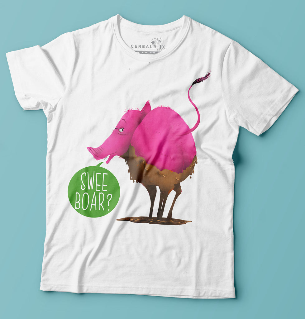 Swee Boar T-shirt is part of Cerealbox Shop's SG Animals Collection designed by Singapore Illustrator Joshua Chiang