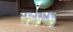 How to steep Japanese green tea for several guests
