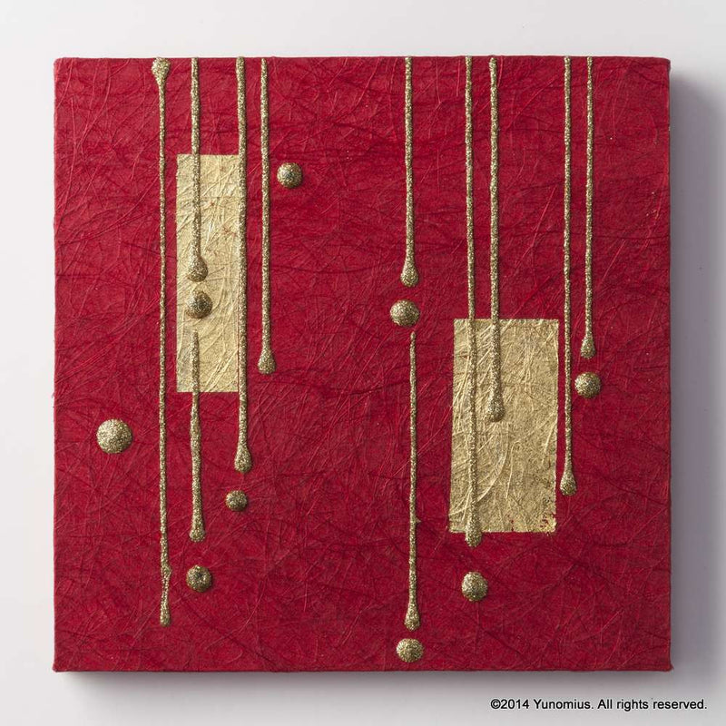 Hana & Haku: Decorative Washi Paper Panel (Red