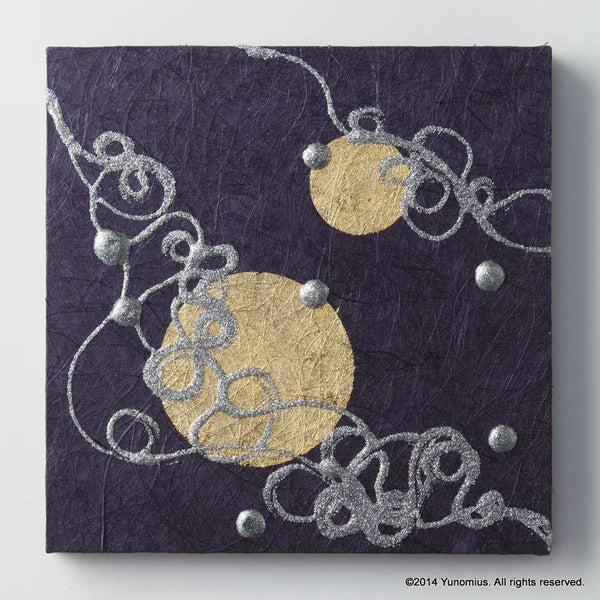 Hana & Haku: Decorative Washi Paper Panel (Purple #3) - 1
