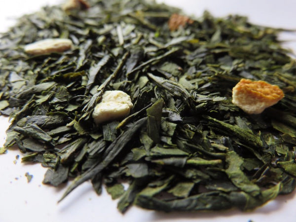 Ocharaka: Natsumikan (citrus) flavored green tea 40g