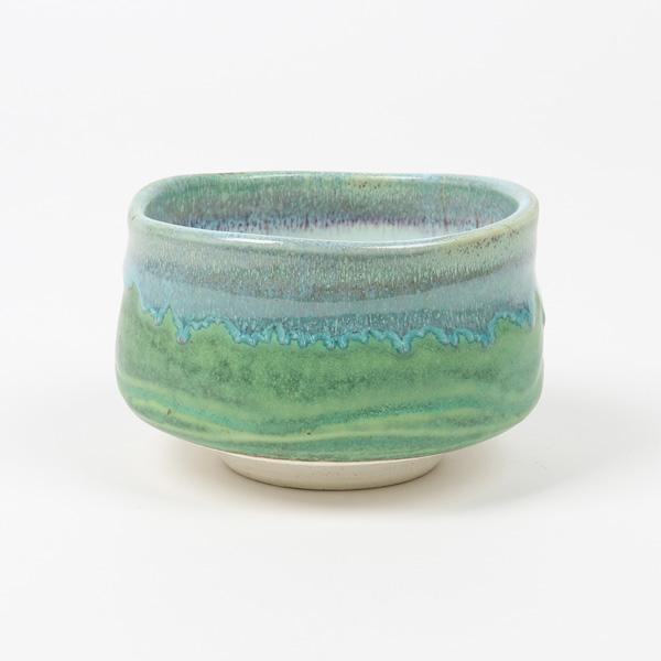 Yamaki Ikai: Deep Sea Blue-Green Matcha Tea Bowl (Maru Oto Iguchi Ceramics)