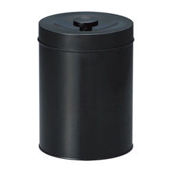 Okumura Seikan: Tea can for 1kg (sencha) black no design