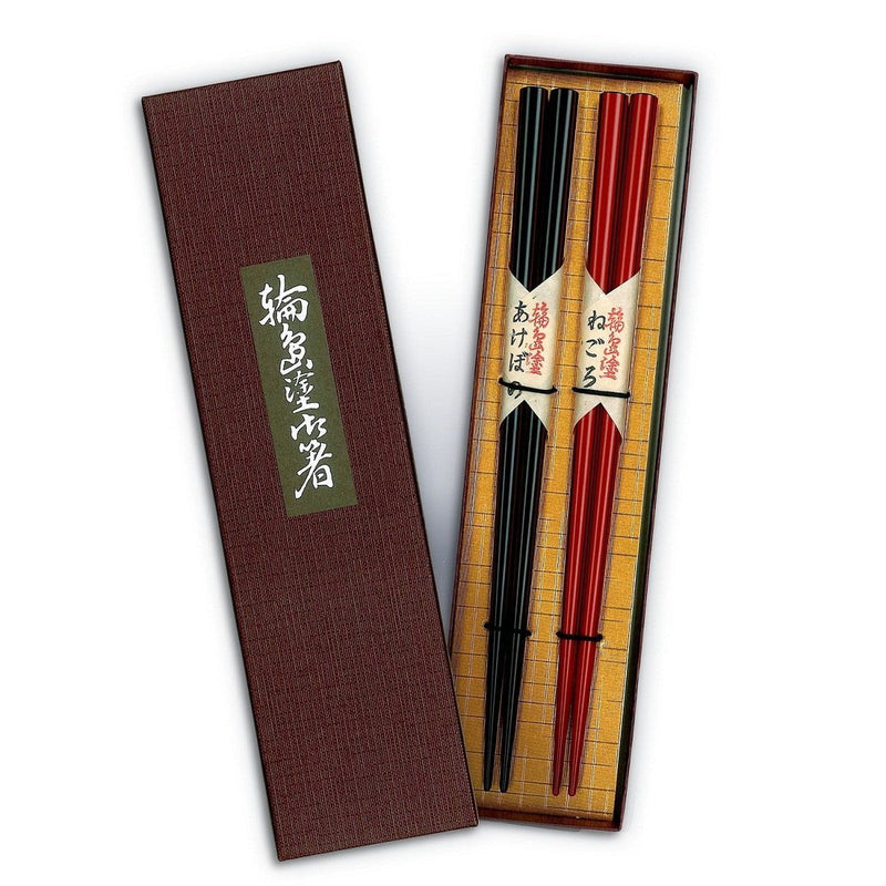 Tohachiya: Urushi Chopsticks, set of 2 colors, 22.5 cm (come with box)