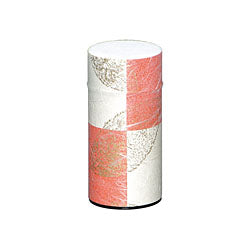 Okumura Seikan: Tea Can, Washi Paper - Gold leaf crimson