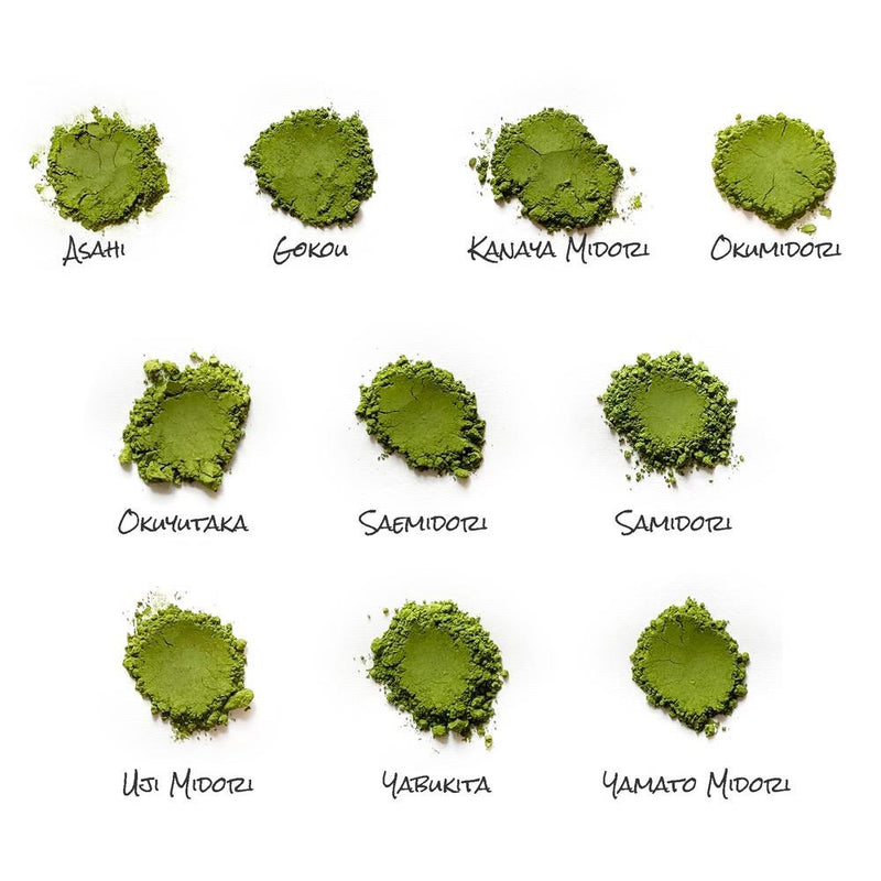 Cultivar Comparison (10g x 10 types): Azuma Tea Garden Stone Milled Matcha Sampler