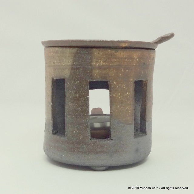 Yamatane sa3903: Tokoname Tea Incense Burner (Chakouro), Stripe - 1