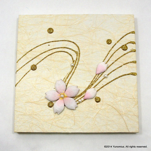 Hana & Haku: Sakura Washi Paper Panel (White #1) - 1