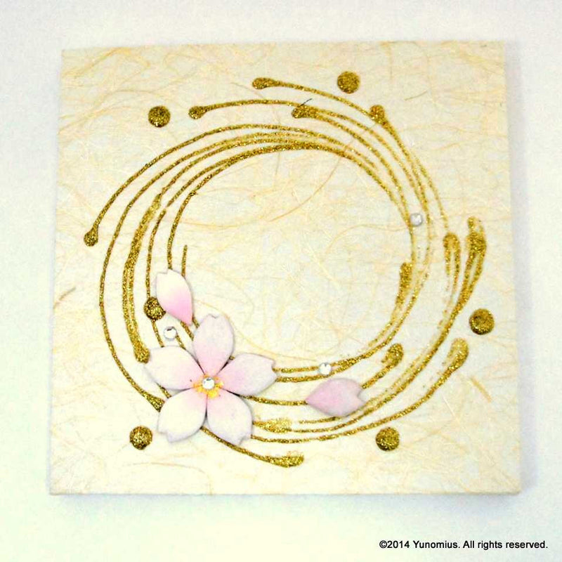 Hana & Haku: Sakura Washi Paper Panel (White