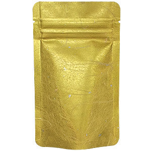 Seiwa: Resealable stand bag (gold Japanese washi paper, 6 sizes) - 1