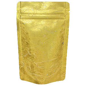 Seiwa: Resealable stand bag (gold Japanese washi paper, 6 sizes) - 7