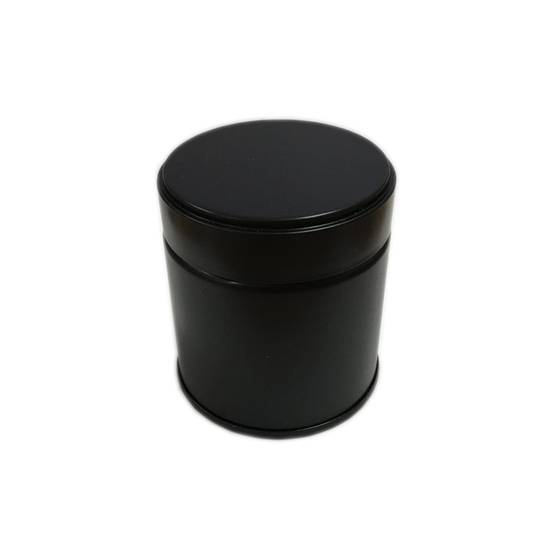 Matcha Tea Can, Black Screw Top