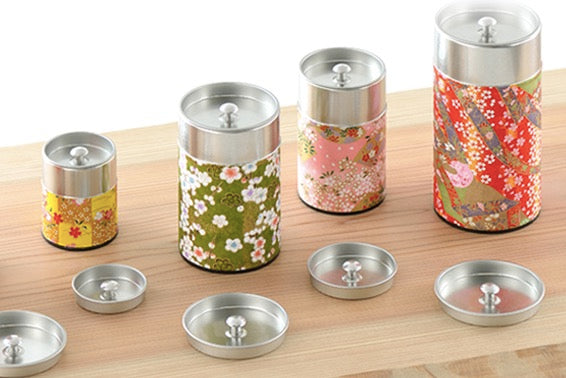 Okumura Seikan: Tin Presentation Lids for Storage Cannisters (40g / 175g sizes)
