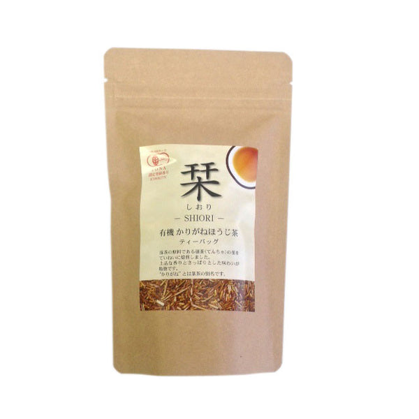 Chasandai: Shiori 栞 Organic Roasted Tencha Stems, Tea Bags (3g x 10) - 1