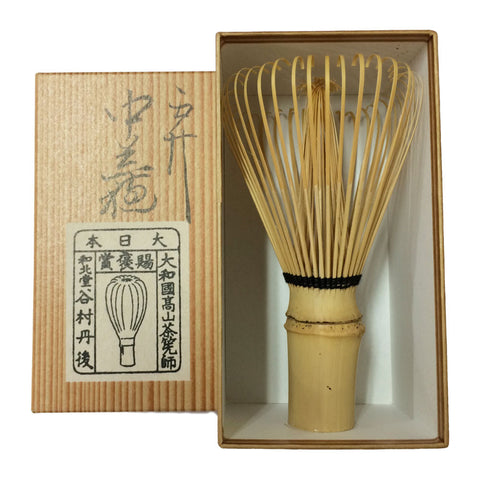 Yunomi Chado Tools: Chasen Bamboo Whisk for Matcha, 48-prong Naka-araho by Tango Tanimura - 1