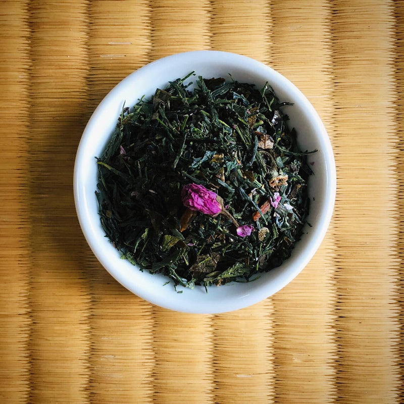 Chasandai: Sakura Sencha with Sugared Sakura Leaves