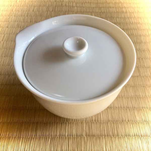 Yamani - Miyama Tableware: Chahaku Houhin Tea Pot - Porcelain White