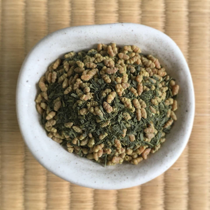 Naturally Grown Genmaicha with Green Tea Powder by Zenkouen Tea Garden