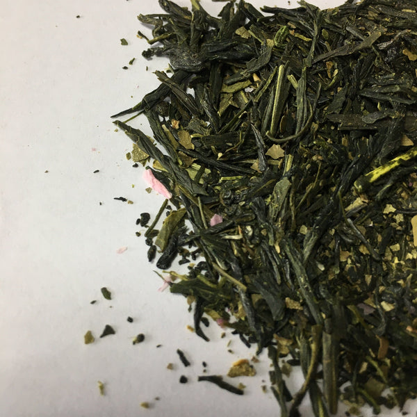 Ocharaka: Sakura sencha flavored green tea