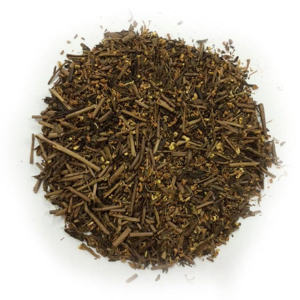 Ocharaka: Hojicha Orange Osmanthus flavored roasted green tea