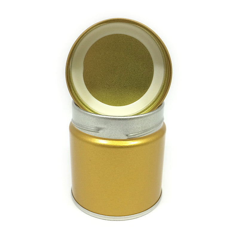 Okumura Seikan: Matcha Tea Can, Gold Screw Top - 3