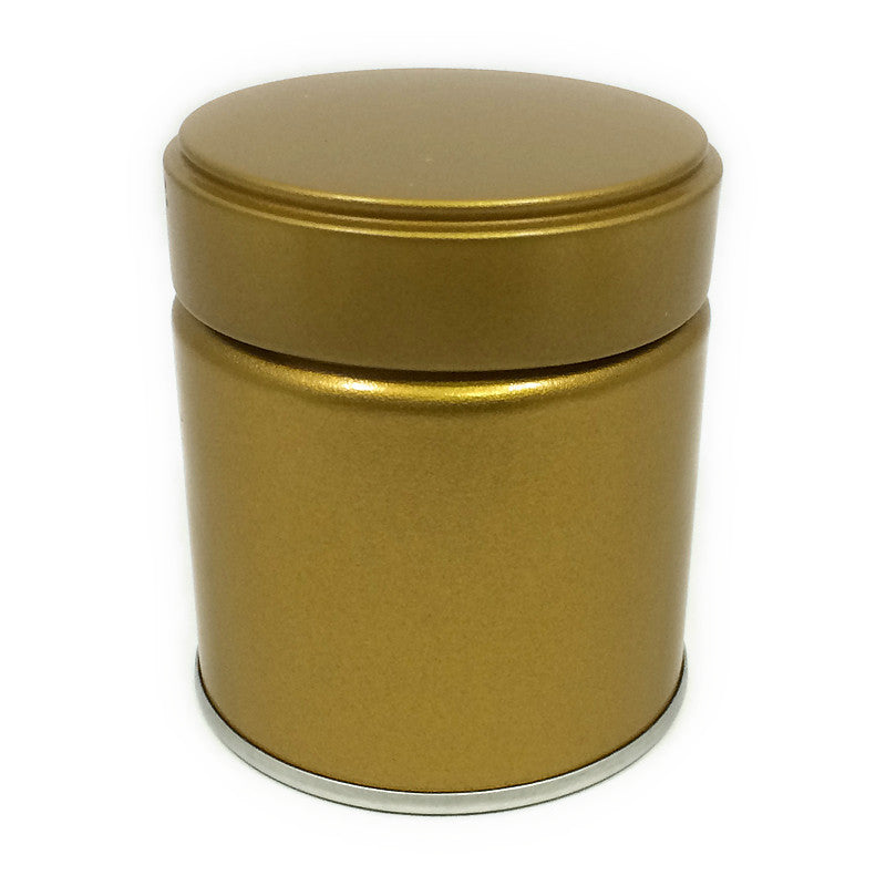 Okumura Seikan: Matcha Tea Can, Gold Screw Top - 1