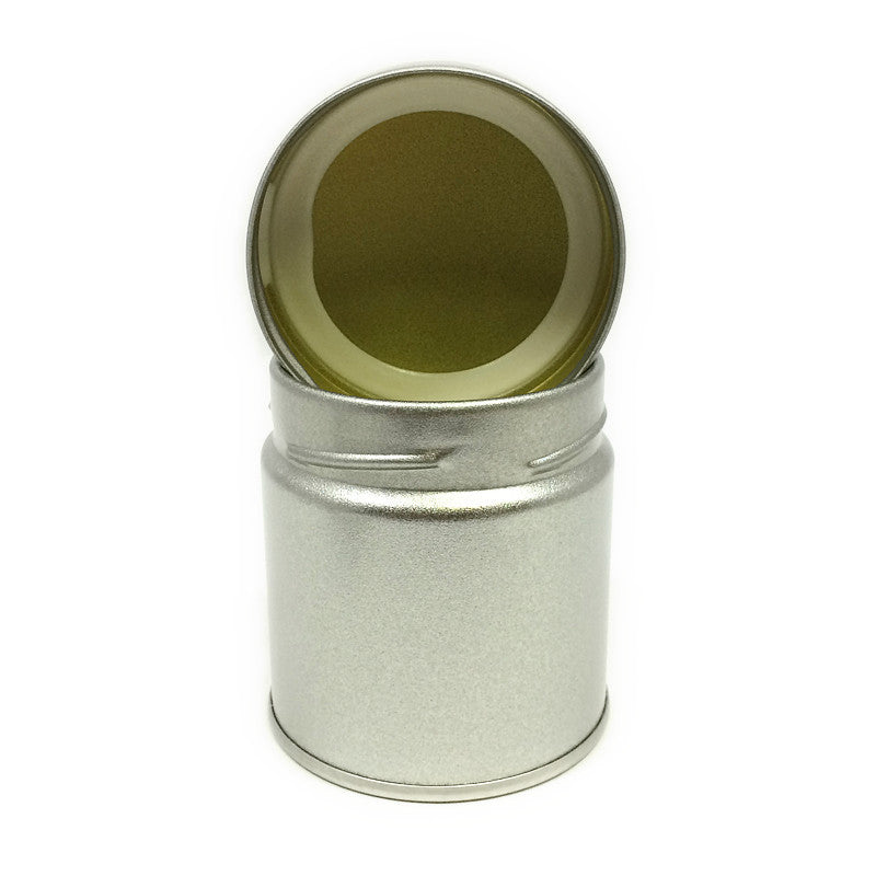 Okumura Seikan: Matcha Tea Can, Silver Screw Top - 2