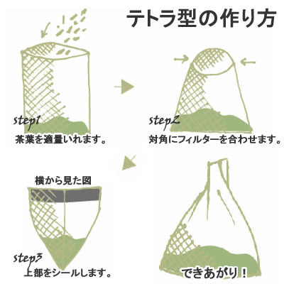 Seiwa 58140: Flat or Pyramid Mesh Tea Bags, 70 x 100 mm