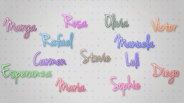 """Behind each single name…""  Manuela."