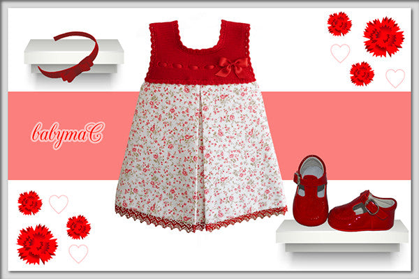 babymaC | baby girl outfit flowers