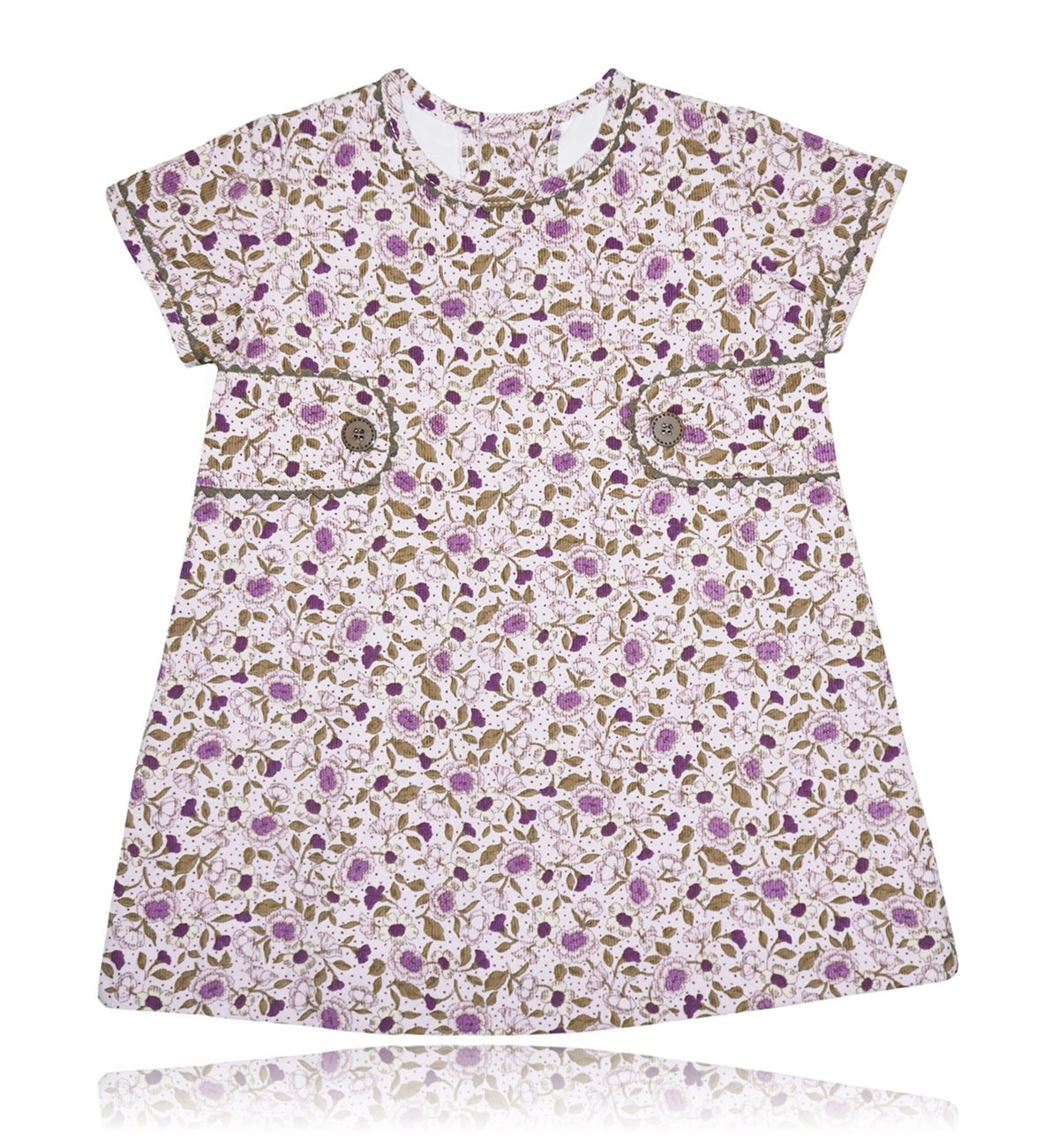 Spanish baby clothes | baby Dress | Floral print corduroy dress |babymaC  - 1