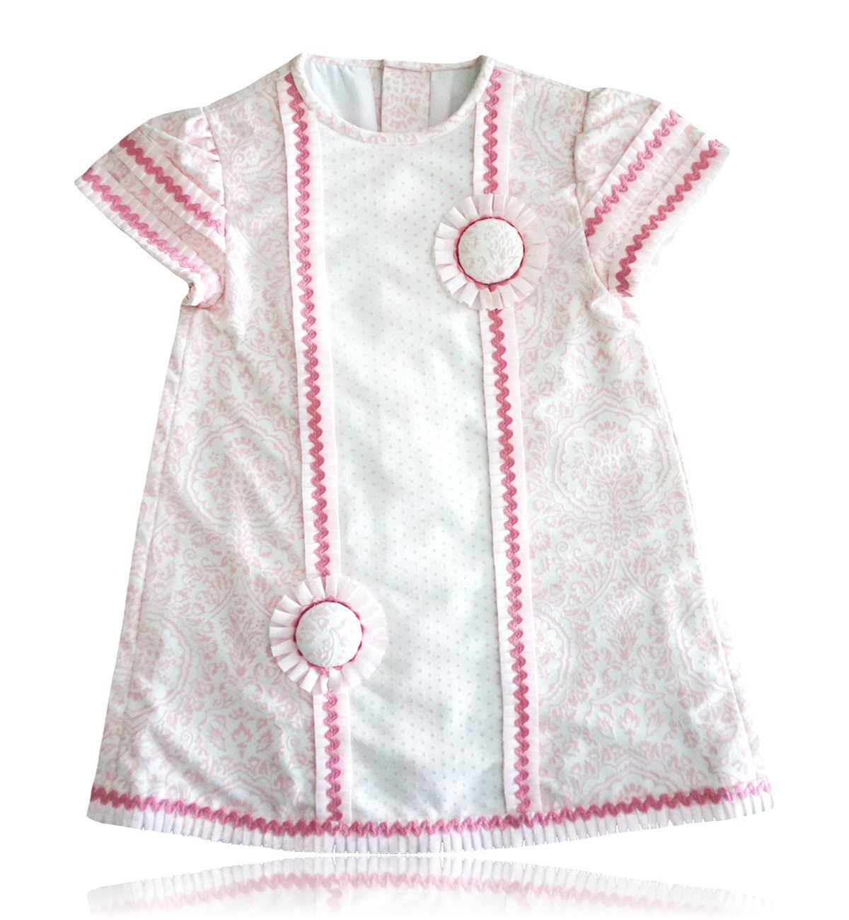 Spanish baby clothes | baby Dress | Pink and white dress |babymaC  - 1