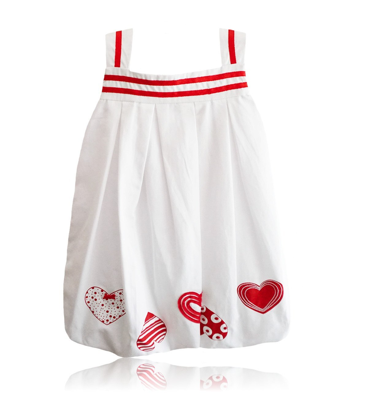 Spanish baby clothes | baby Dress | White and red dress |babymaC  - 1