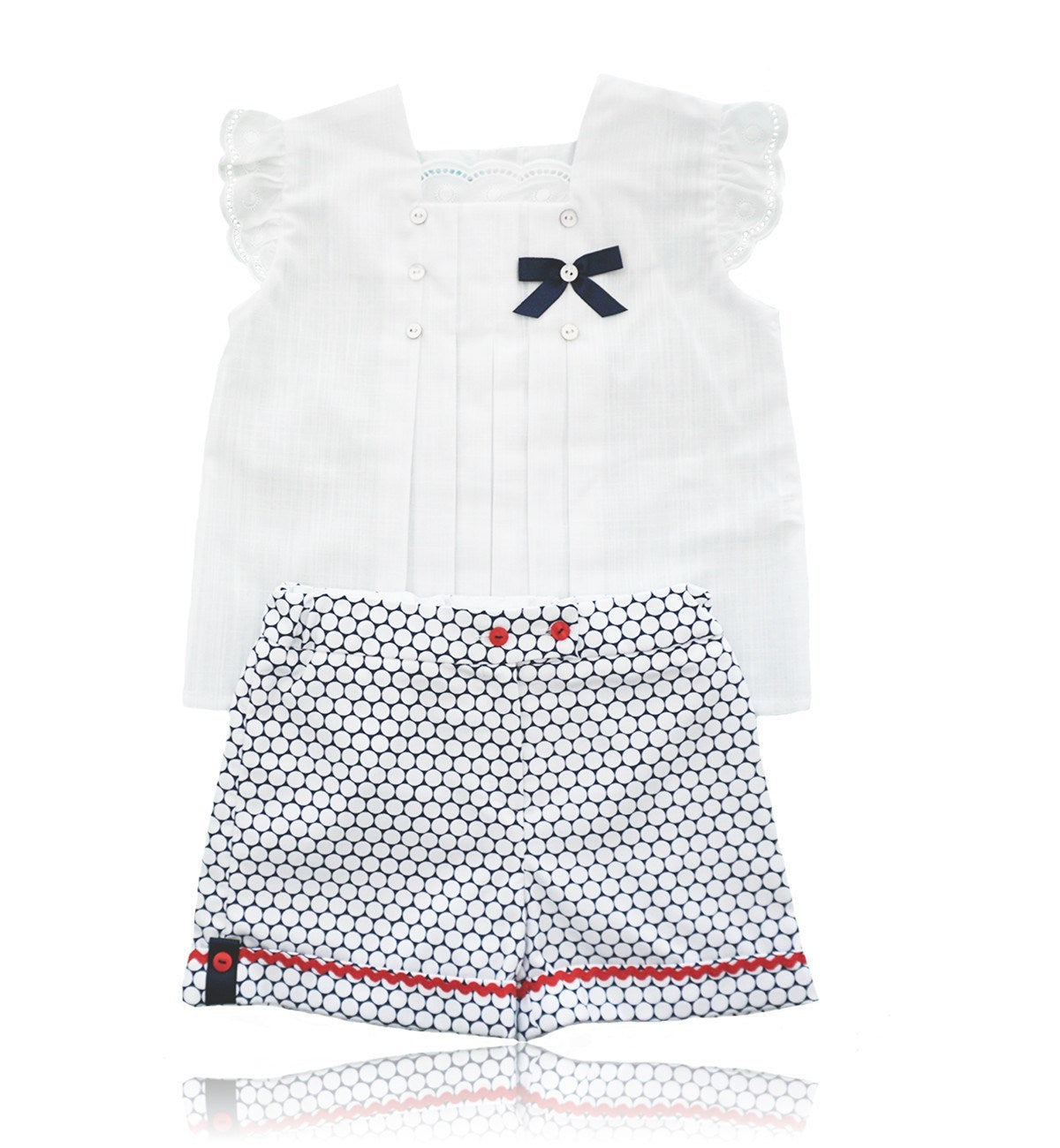Spanish baby clothes | baby Blouse & Short set | Blouse & short set |babymaC  - 1