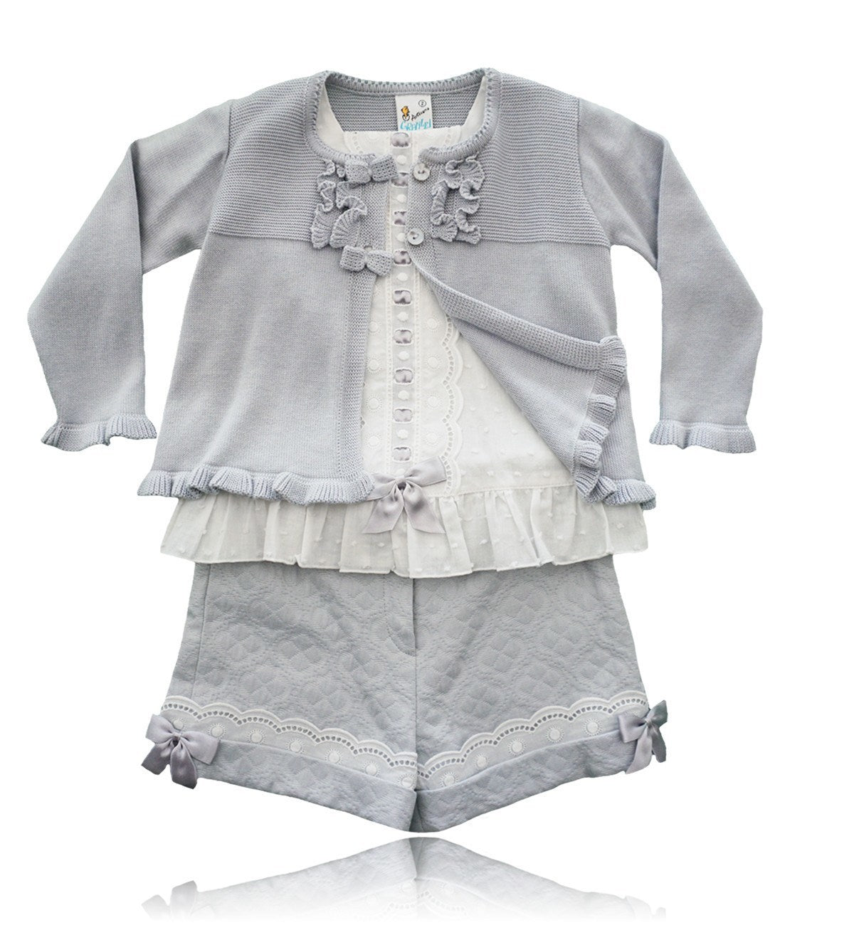 Spanish baby clothes | baby Blouse & Short set | Cardigan, blouse & short set |babymaC  - 1