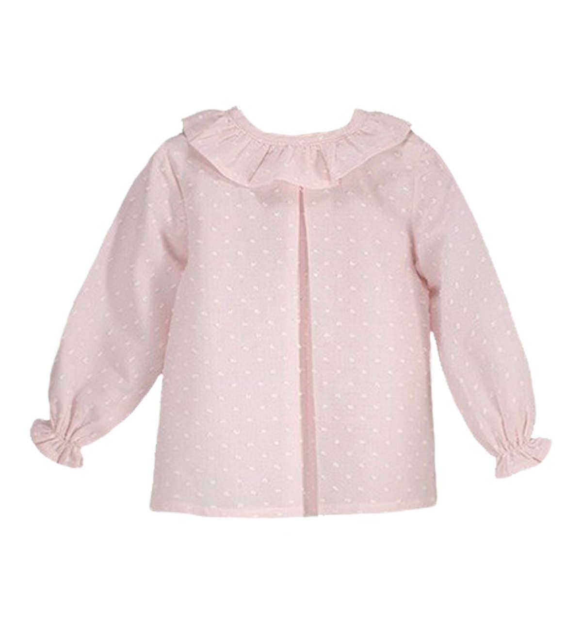 Spanish baby clothes | baby Blouse | Pale pink blouse |babymaC  - 1