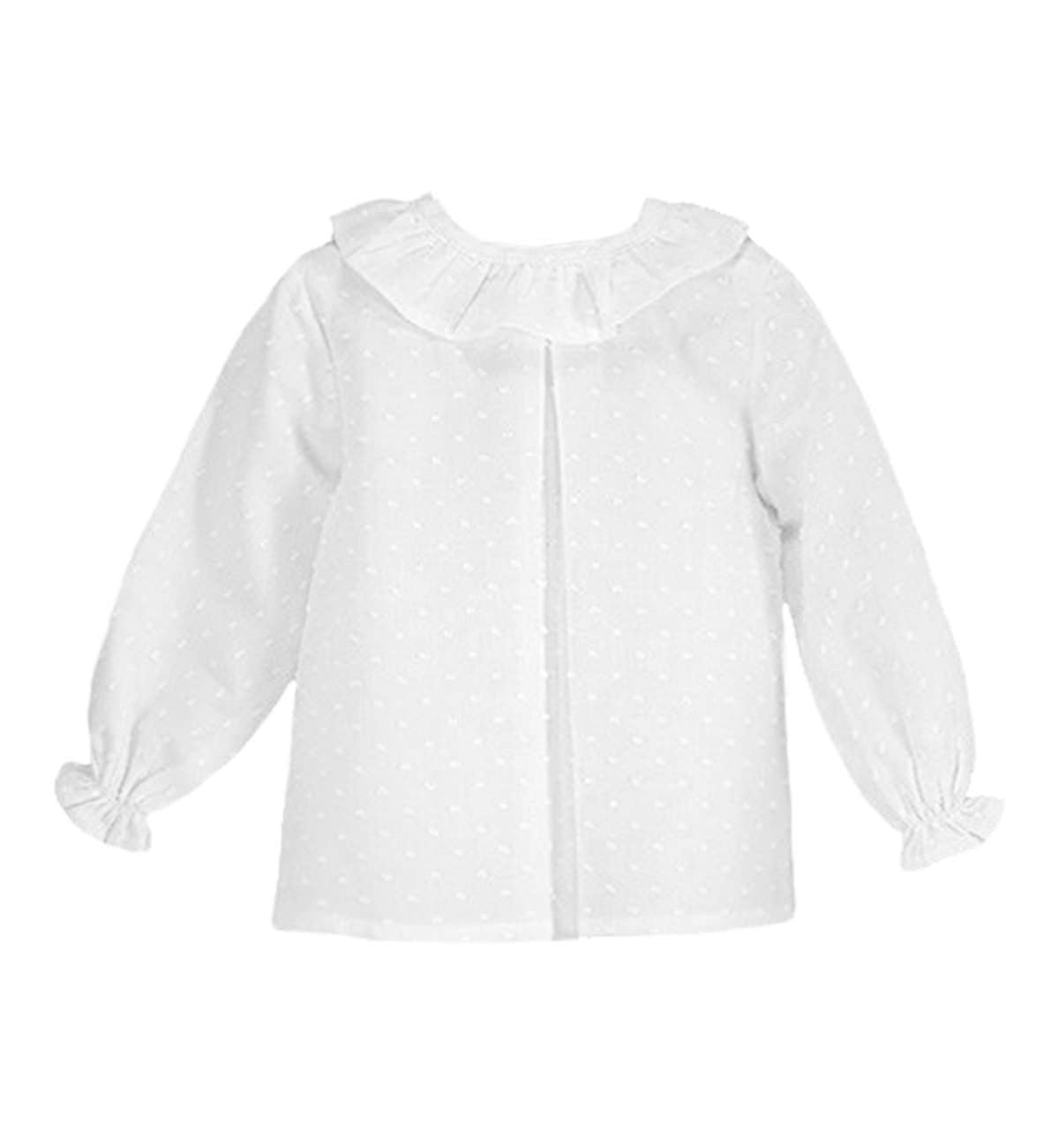 Spanish baby clothes | baby Blouse | White blouse |babymaC  - 1