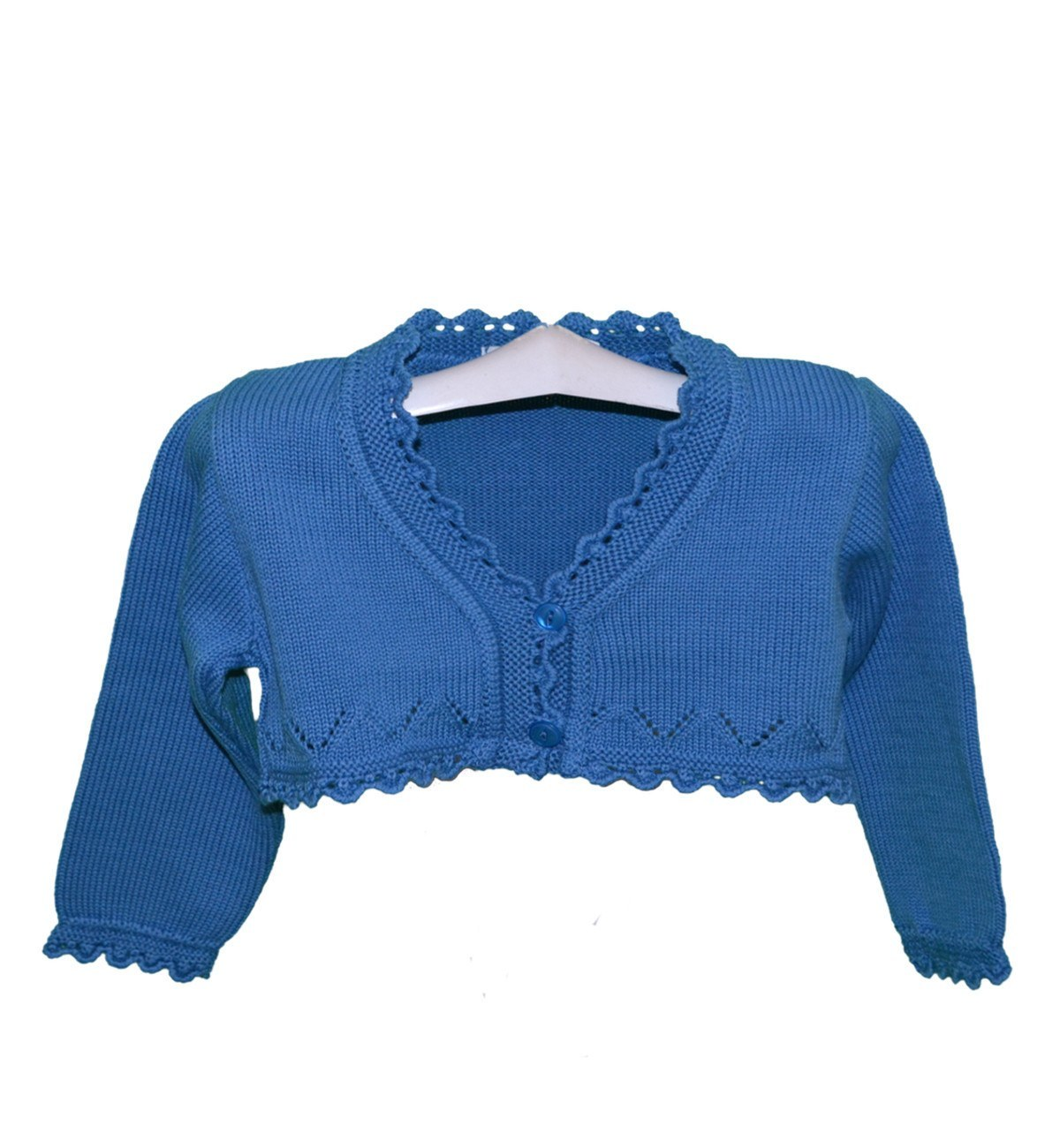 Spanish baby clothes | baby Cardigan & Coat | Blue Bolero cardigan |babymaC